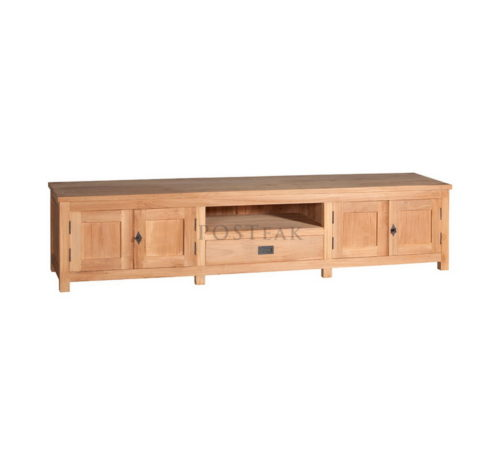 tv kast. tv kast 4 doors 1 drawer unfinish teak modern furniture