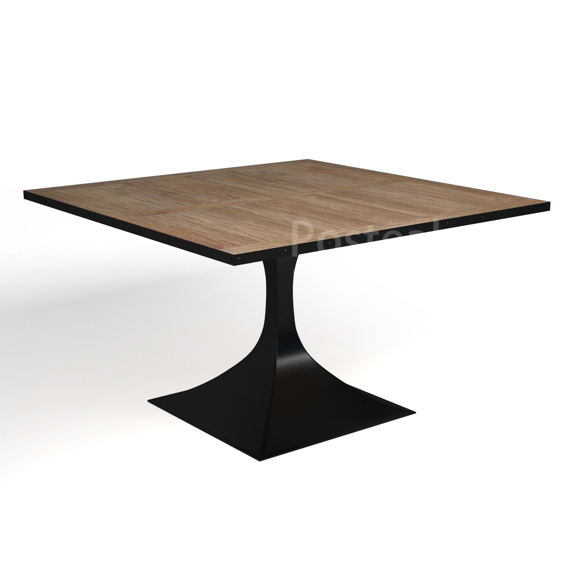 Square Rectangular Modern Dining Table Legs Industrial: Single Square Metal Legs