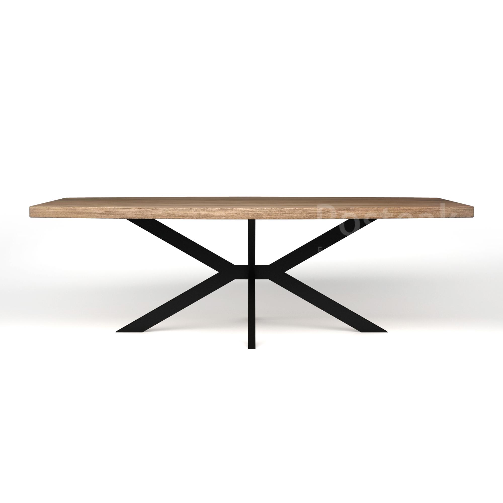 Modern Dining Table Iron Cross Legs Posteak Furniture