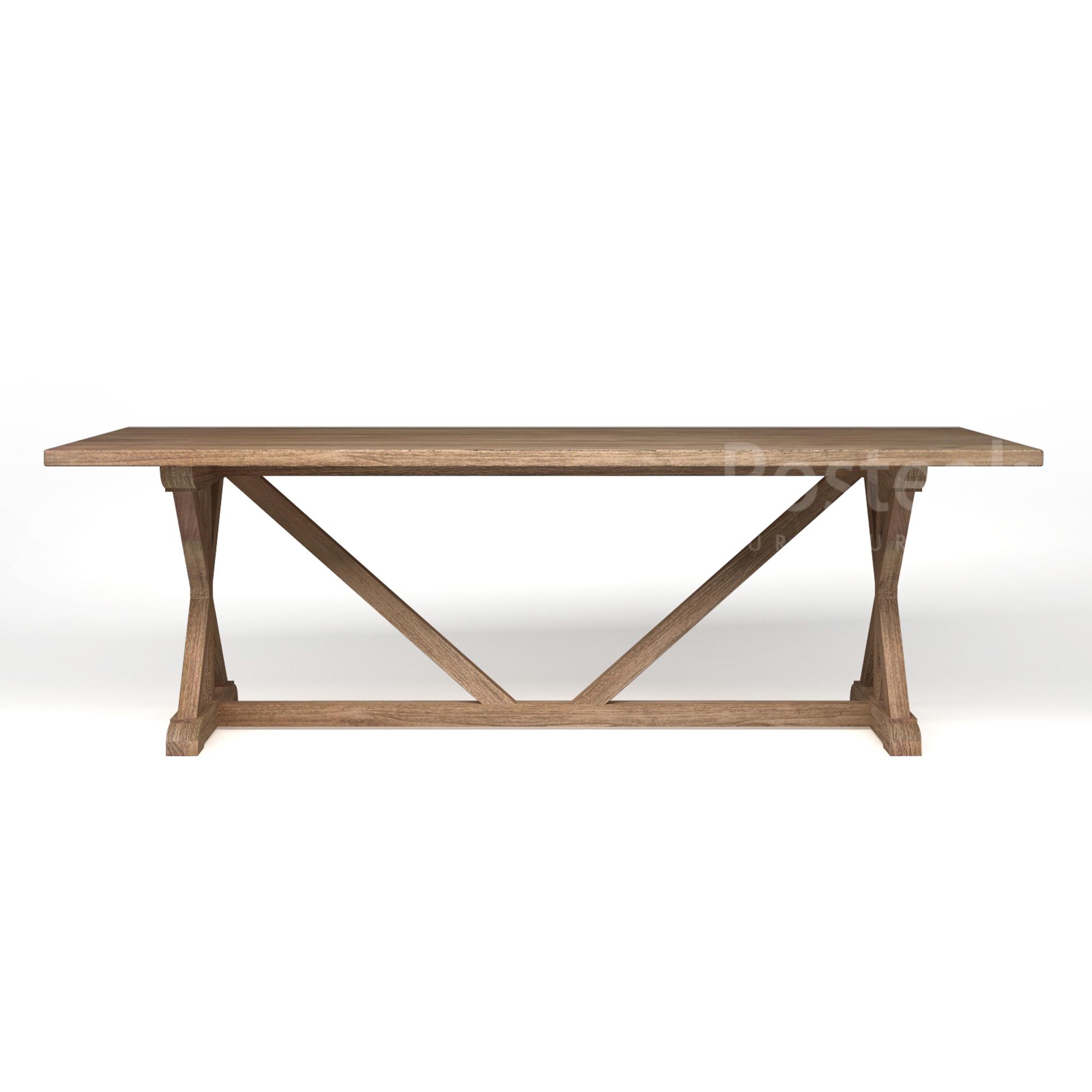 Superb Classic Dining Table Farmhouse Cross Legs Posteak Furniture Uwap Interior Chair Design Uwaporg