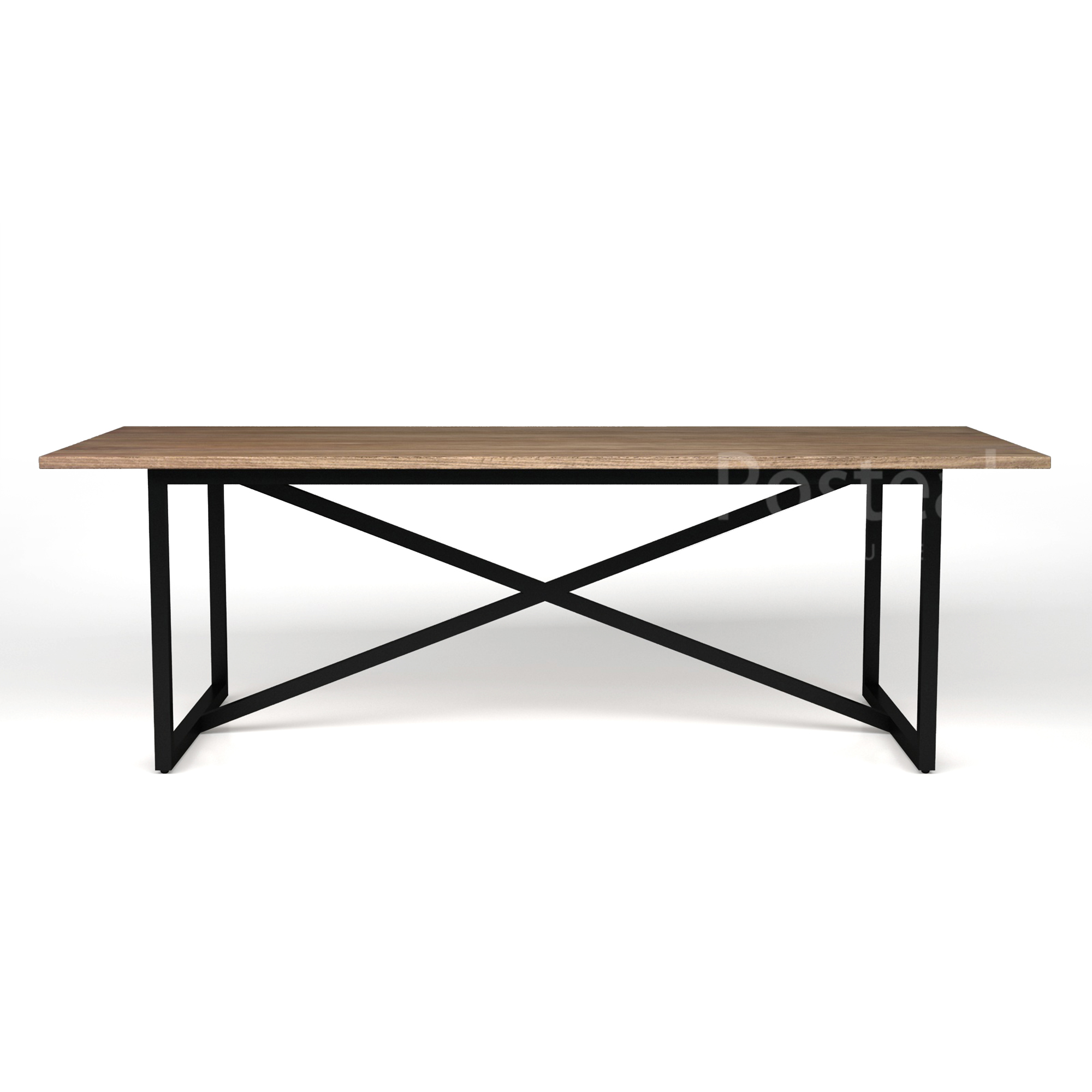 Square Rectangular Modern Dining Table Legs Industrial