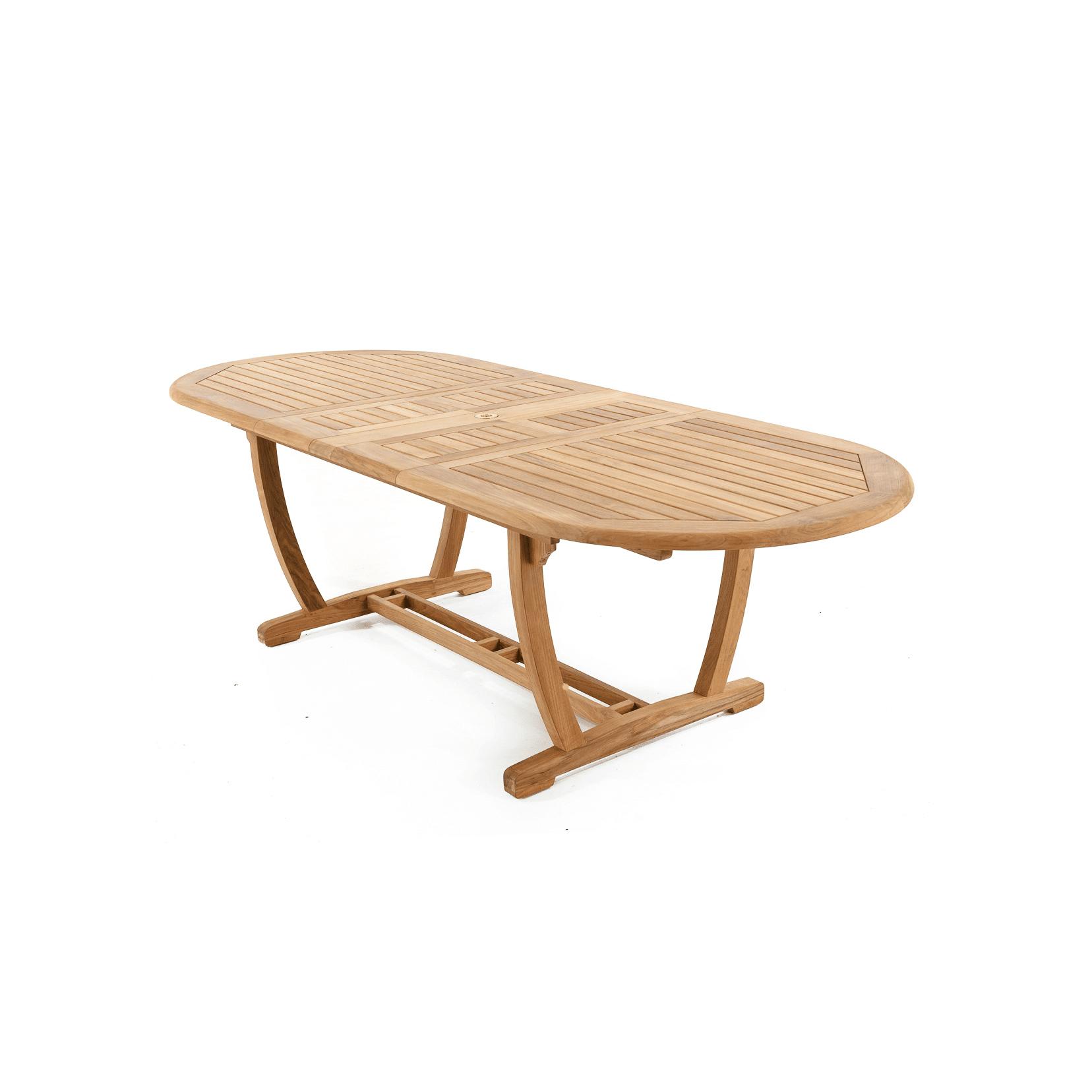 Teak Extendable Coffee Table: Teak Extendable Long Oval Table - GDT15